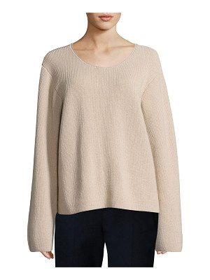 THE ROW Grisa Ribbed Scoop-Neck Sweater