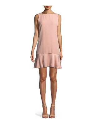 THEORY Flirty Flare A-Line Kensington Crepe Dress
