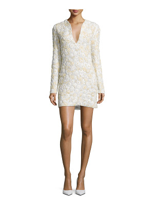 TOM FORD 3d Floral-Embellished Mini Dress