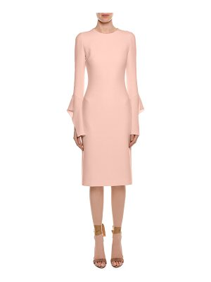 TOM FORD Bell-Sleeve Silk Sheath Cocktail Dress