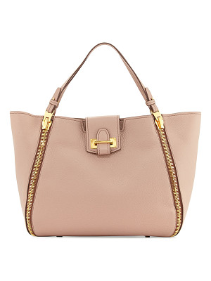 TOM FORD Sedgewick Medium Leather Zip-Trim Tote Bag