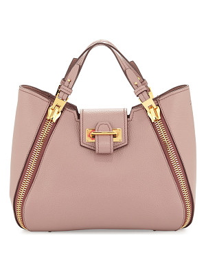 TOM FORD Sedgwick Mini Double-Zip Leather Tote Bag
