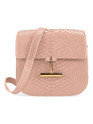 Tom Ford Tara Small T Clasp Python Shoulder Bag