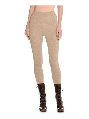 TOMAS MAIER Trompe L'Oeil Felted Wool Cropped Track Pants