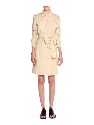 Tomas Maier Wrap-Front Belted Shirtdress