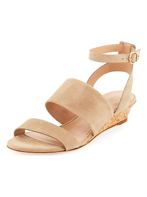 TORY BURCH North Suede Low-Wedge Sandal