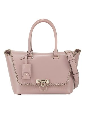 VALENTINO Demilune Small Vitello Lux Leather Double-Handle Satchel Bag