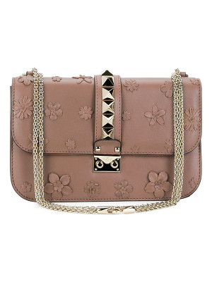 Valentino Lock Medium Floral Shoulder Bag