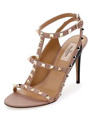 VALENTINO Rockstud Colorblock Caged 100mm Sandal