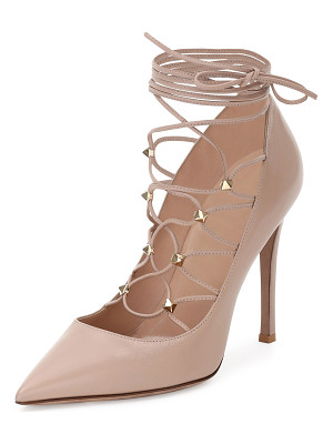 Valentino Rockstud Leather Lace-Up 105mm Pump