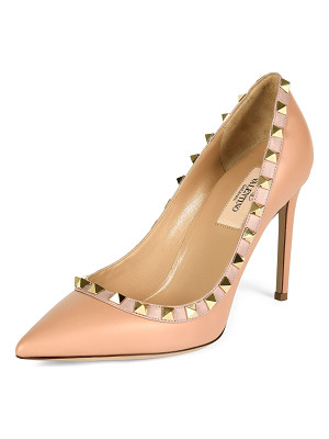 Valentino Rockstud Leather Pointed-Toe Pump