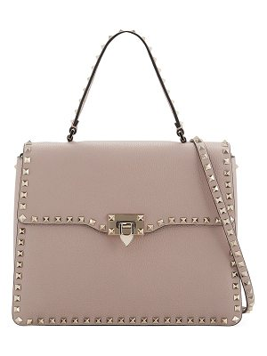 VALENTINO Rockstud Medium Leather Top-Handle Satchel Bag