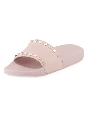 Valentino Rockstud Pool Slide Sandals