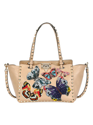 VALENTINO Rockstud Small Embroidered Tote Bag