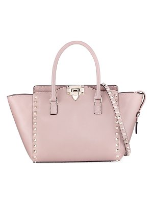 VALENTINO Rockstud Small Leather Shopper Tote Bag