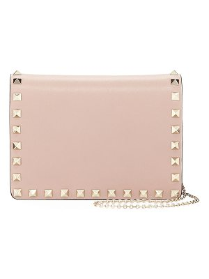 Valentino Rockstud Smooth Leather Pouch Crossbody Bag