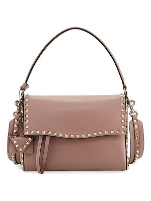 Valentino Rockstud Smooth Leather Top-Handle Bag