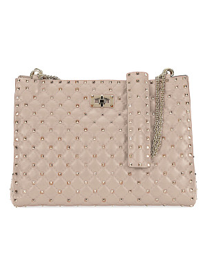 Valentino Rockstud Spike Crinkled Shoulder Bag