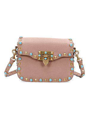 Valentino Rolling Rockstud Small Saddle Bag