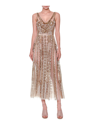 VALENTINO Sleeveless Sequined Tulle Gown