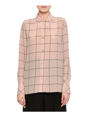 Valentino Windowpane Crêpe de Chine Shirt