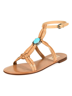 Valentino Woven Leather Flat Sandal