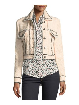 VERONICA BEARD Vita Cropped Tweed Jacket