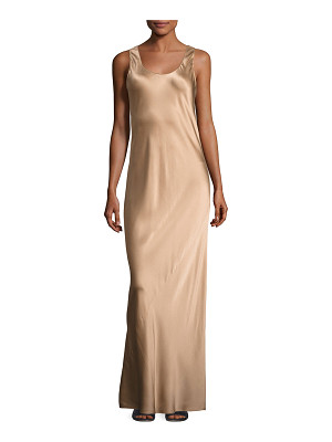 VINCE Bias-Seam Sateen Maxi Dress