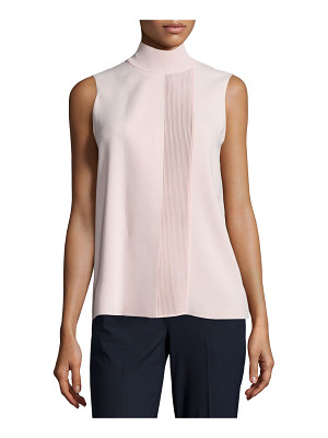 Vince Laser-Cut Sleeveless Turtleneck Top