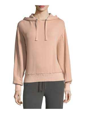 VINCE Raw-Edge Cotton Hoodie
