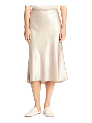 VINCE Satin Bias-Cut Slip Skirt