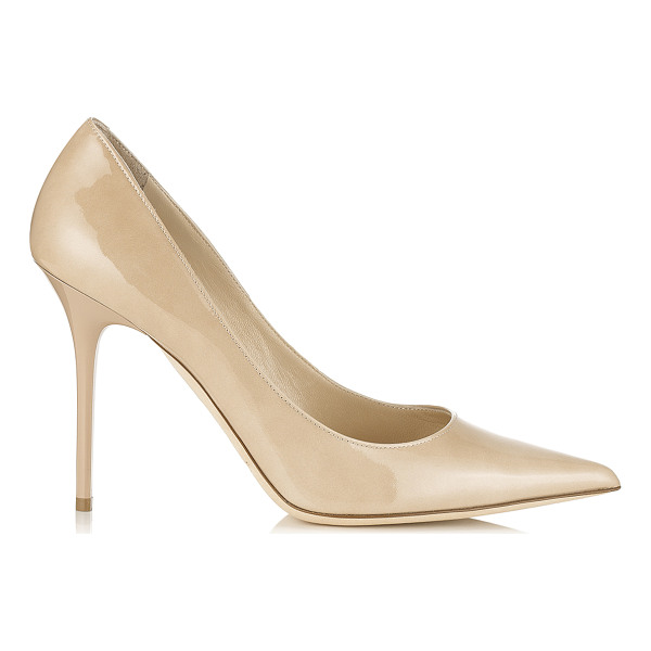 JIMMY CHOO Abel nude patent pointy toe pumps - Abel is the perfect stiletto pump with a signature spike...