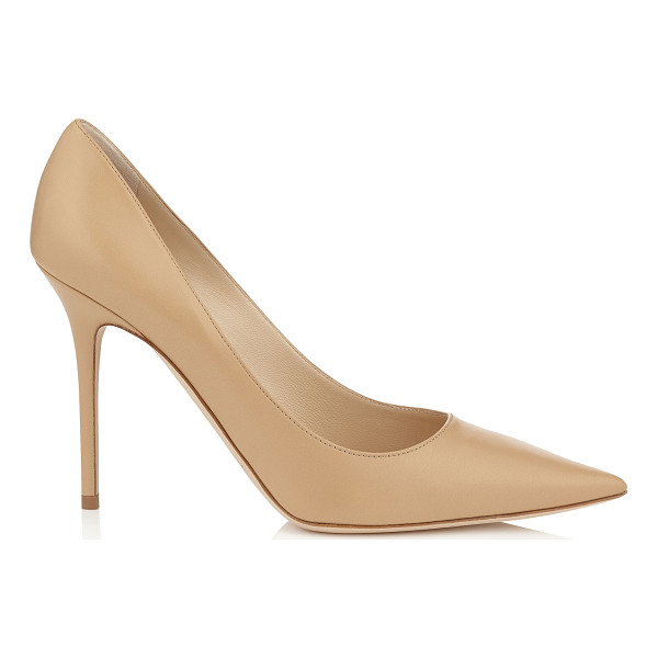 JIMMY CHOO Abel nude kid leather pointy toe pumps - The Abel pointy toe pump is characterized by its clean,...