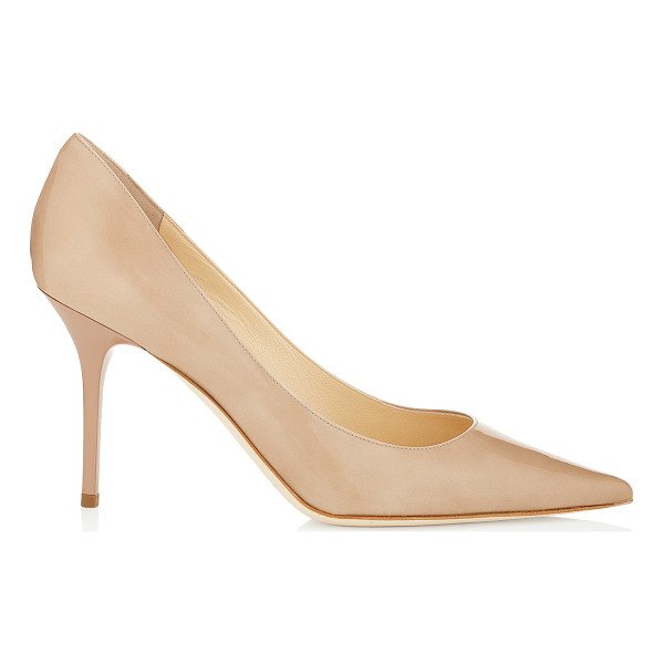 JIMMY CHOO Agnes nude patent pointy toe stiletto pumps - The perfect pair of nude patent pumps is a foundation for...