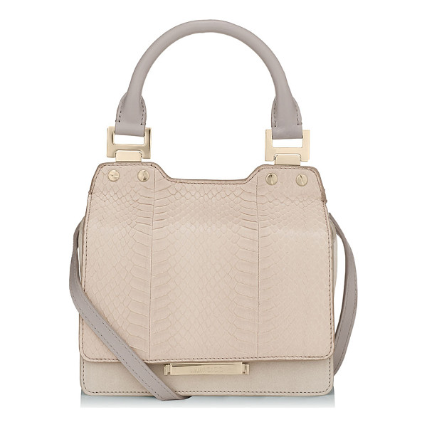 JIMMY CHOO Amie s almond elaphe and nubuck leather small tote bag - Modern yet ladylike, Amie S is inspired by quirky bag...