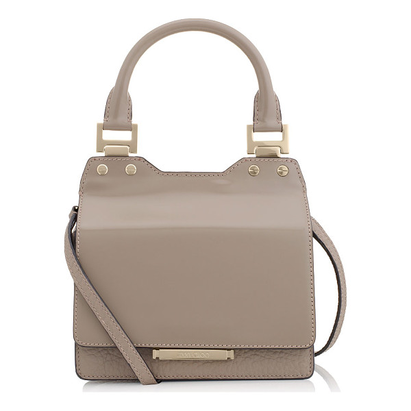 JIMMY CHOO Amie s musk spazzolato and grainy leather small tote bag - Modern yet ladylike, Amie S is inspired by quirky bag...