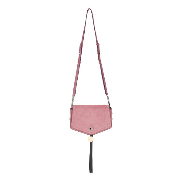 JIMMY CHOO ARROW Vintage Rose Suede Cross Body Bag - Reflective of its name, the Arrow suede cross body bag's...