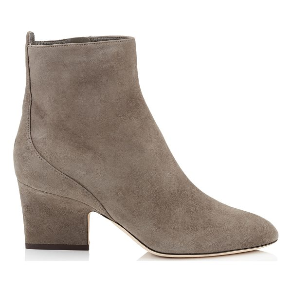 JIMMY CHOO AUTUMN 65 Mink Suede Round Toe Booties - Autumn in suede mink is an easy to wear ankle bootie...