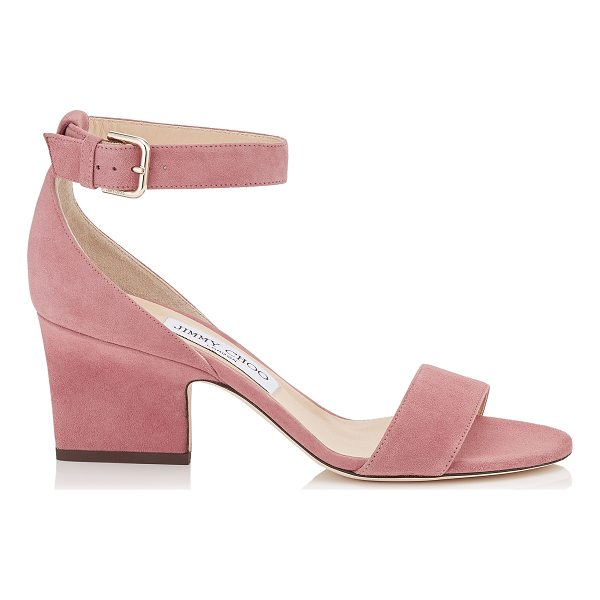 JIMMY CHOO EDINA 65 Vintage Rose Suede Wedges - Inspired by the 24:7 Icons capsule collection, the Edina in...