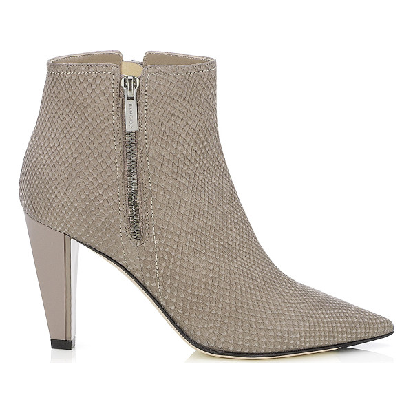 JIMMY CHOO Hughie musk matt snake printed leather ankle boots - An ankle boot's versatility means it is a wardrobe must....