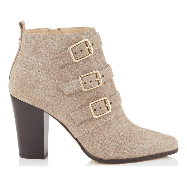 JIMMY CHOO Hutch rope denim leather ankle boots - A modern interpretation of the winkle picker boot, these...