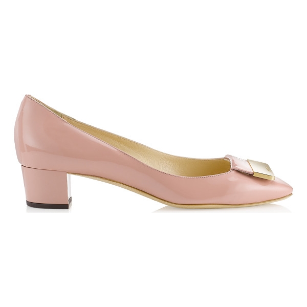 JIMMY CHOO Iris blush patent square toe pumps - Step out in lady like style with these demure timeless...