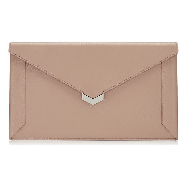 JIMMY CHOO LAUREN Ballet Pink Nappa Leather Pouch - The Lauren pouch in ballet pink nappa leather is a chic and...