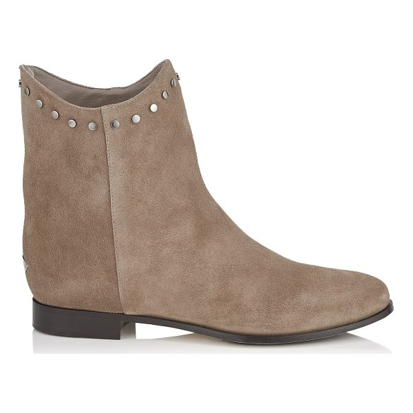 JIMMY CHOO MARCO FLAT Light Mocha Suede Ankle Boots - The suede Marco is a modern take to the classic ankle boot...