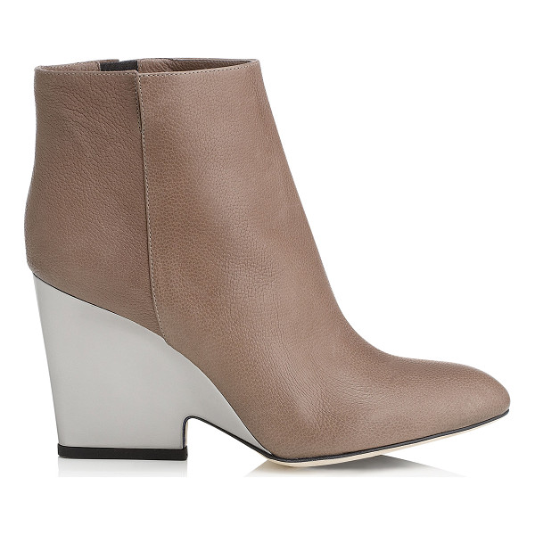 JIMMY CHOO Myth 90 mink soft grained leather wedged ankle boots - An easy to wear boot combining fashion with functionality....