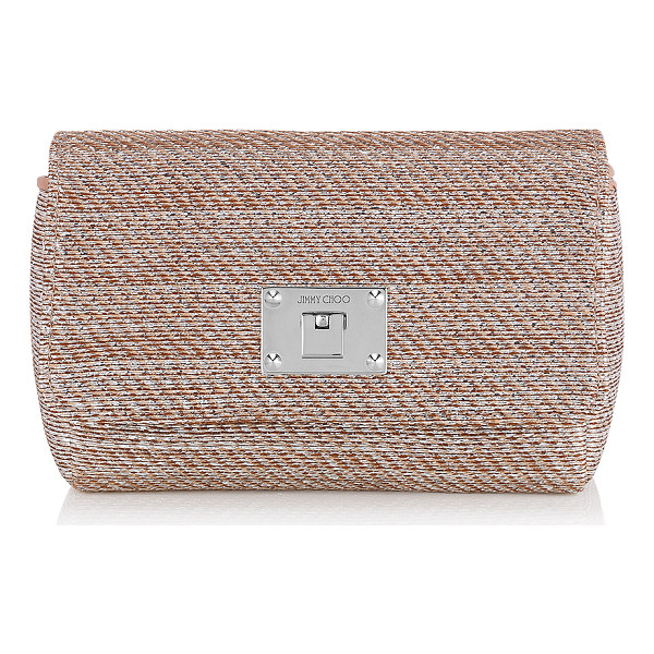 JIMMY CHOO Ruby l champagne metallic woven lamé fabric mini bag - A compact mini bag that can be carried neatly in your hand...