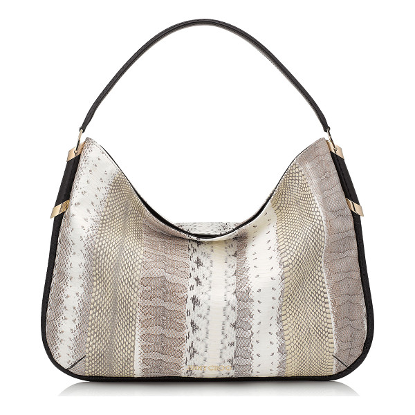 JIMMY CHOO Zoe natural striped exotic mix shoulder bag - Zoe is a spacious and practical hobo bag with easy internal...