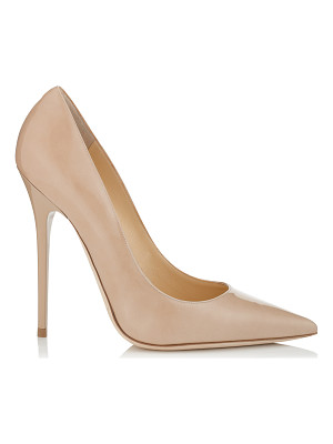 Jimmy Choo ANOUK Nude Patent Pointy Toe Stiletto Pumps