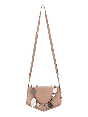 JIMMY CHOO Arrow Ballet Pink Soft Grained Leather Cross Body Bag With Chain And Charms
