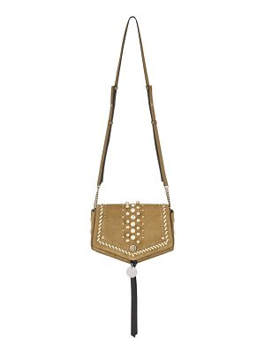 Jimmy Choo ARROW Hazel Suede Cross Body Bag with Punk Studs